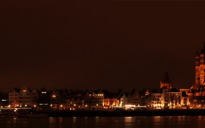 Dom Panorama Nacht Wenig Pixel