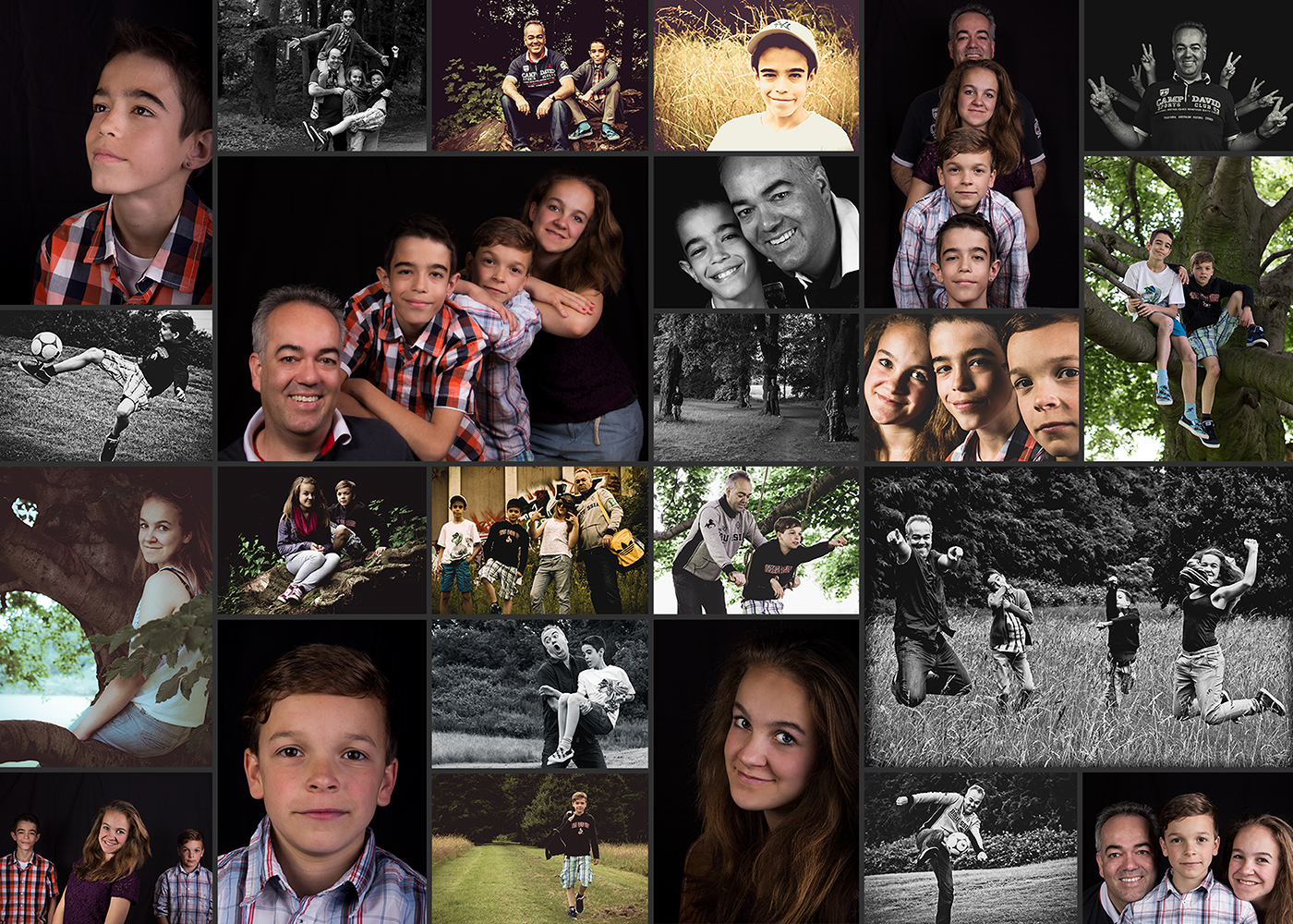 Familien Collage